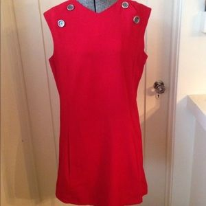 Dresses & Skirts - Vintage 1960s Red Mini Mod Scooter Dress